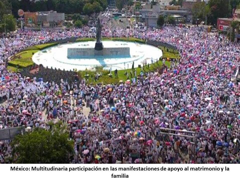 MAS DE UN MILLON DE PERSONAS MARCHARON EN MEXICO POR LA VIDA Y LA FAMILIA